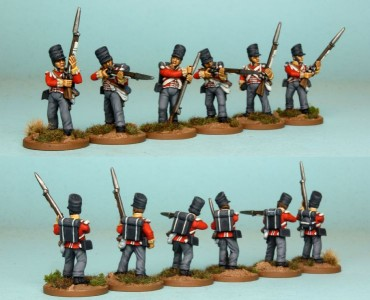 28mm British Reinforcement pack BNRPK16 (front & rear view) / painted by Richard Abbott