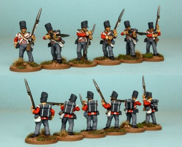 28mm British Reinforcement pack BNRPK17 (front & rear view) / painted by Richard Abbott