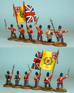 28mm British Reinforcement pack BNRPK18 (front & rear view) / painted by Richard Abbott