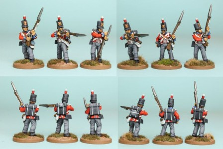 28mm British Reinforcement pack BNRPK19 (front & rear view) / painted by Richard Abbott