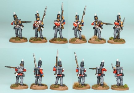 28mm British Reinforcement pack BNRPK20 (front & rear view) / painted by Richard Abbott