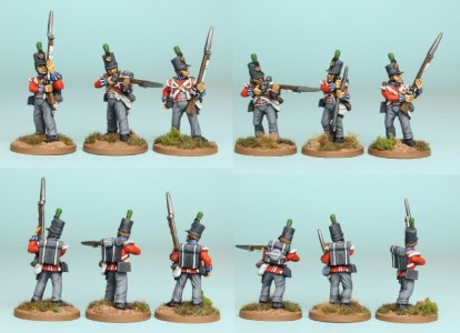 28mm British Reinforcement pack BNRPK21 (front & rear view) / painted by Richard Abbott