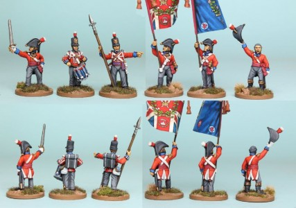 28mm British Reinforcement pack BNRPK22 (front & rear view) / painted by Richard Abbott