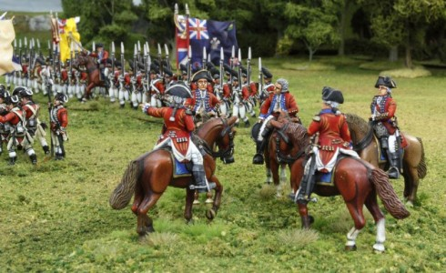 40mm AWI British Generals group2 / Generals painted by Tony Runkee. Flags by Jon Hutchinson.