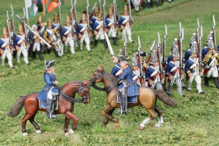 40mm AWI Hessian Generals /Generals painted by Tony Runkee. Foot figures. Flag by Jon Hutchinson.