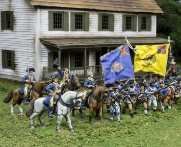 40mm AWI Continental Generals & Infantry / Generals painted by Tony Runkee, flags by John Hutchinson.
