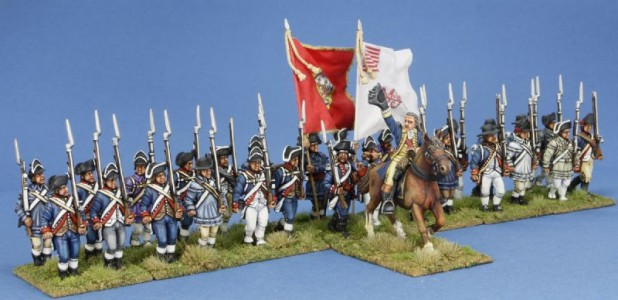 40mm AWI General leading Marylanders / General painted by Tony Runkee, flags by John Hutchinson.
