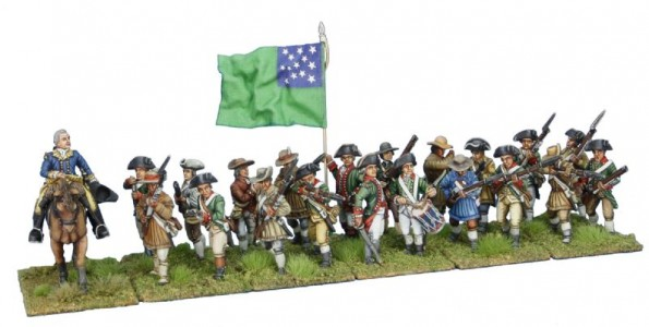 40mm AWI Continental General with Green Mountain Boys / All figures painted by Tony Runkee, flag by John Hutchinson