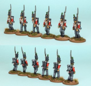 28mm British Reinforcement pack BNRPK3 (front & rear view) / painted by Richard Abbott