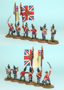 28mm British Reinforcement pack BNRPK24 (front & rear view) / painted by Richard Abbott