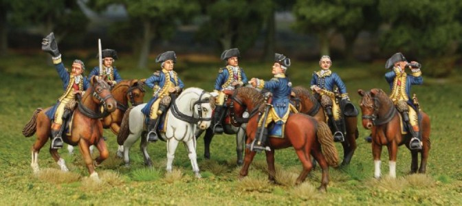 40mm Continental Generals group / painted by Tony Runkee