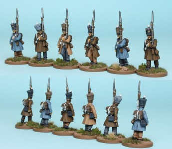 28mm French Reinforcement pack FNRPK15 (front & rear view) / painted by Steve Dyer