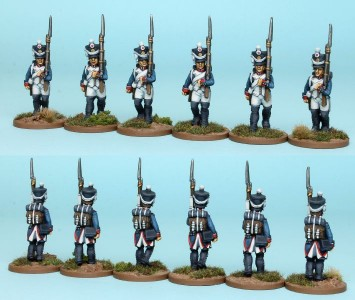 28mm French Reinforcement pack FNRPK1 (front & rear view) / painted by Richard Abbott