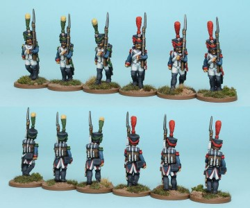 28mm French Reinforcement pack FNRPK5 (front & rear view) / painted by Richard Abbott