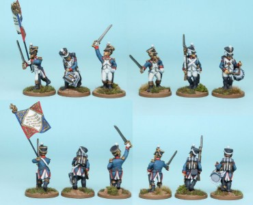 28mm French Reinforcement pack FNRPK6 (front & rear view) / painted by Richard Abbott