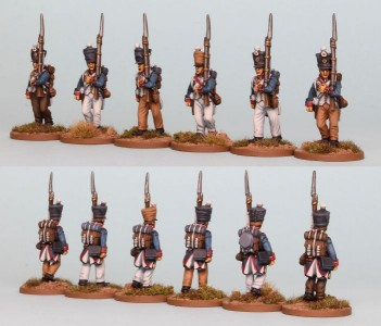 28mm French Reinforcement pack FNRPK2 (front & rear view) / Painted by Richard Abbott
