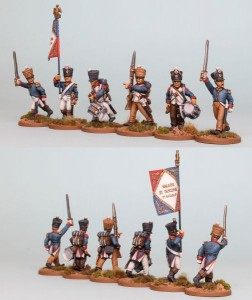 28mm French Reinforcement pack FNRPK8 (front & rear view) / Painted by Richard Abbott