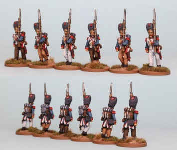 28mm French Reinforcement pack FNRPK12 (front & rear view) / Painted by Richard Abbott