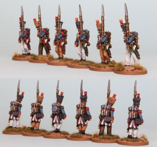 28mm French Reinforcement pack FNRPK7 (front & rear view) / Painted by Richard Abbott