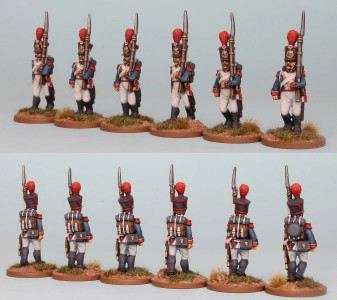 28mm French Reinforcement pack FNRPK20 (front & rear view) / painted by Richard Abbott