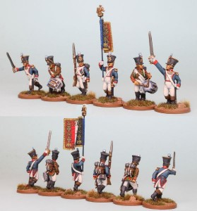 28mm French Reinforcement pack FNRPK21 (front & rear view) / painted by Richard Abbott