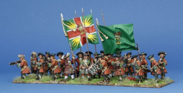 28mm Late 17th C - Kirke's Regiment /  painted by Phil Robinson, flags by Jon Hutchinson