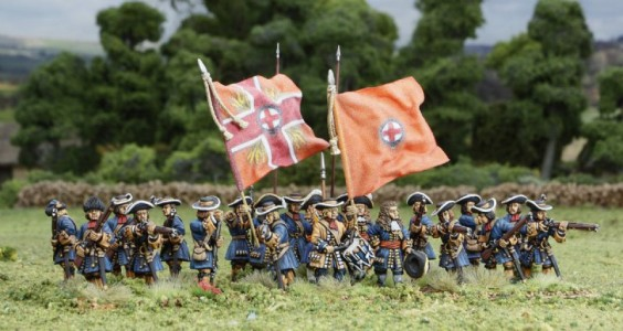 28mm Late 17th C - Dutch Guards / painted by El Mercenario, flags by Jon Hutchinson.