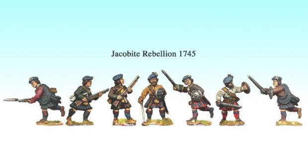 Jacobite figures painted by Kevin Dallimore