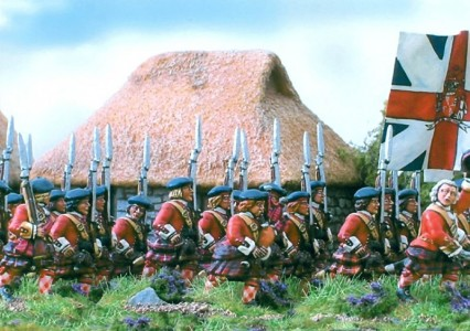 28mm Government Highlanders marching