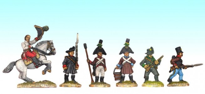28mm Napoleonic Austrian mixed group / painted by Ian Stables