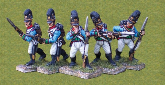 28mm Napoleonic Bavarian Infantry / painted by Ian Stables