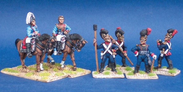 28mm Napoleonic Bavarian generals and artillery / painted by Steve Bowerman
