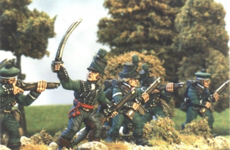 28mm Napoleonic British - 95th Riflemen / painted by Kevin Dallimore