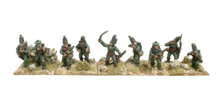 28mm Napoleonic British - 95th Riflemen /painted by Kevin Dallimore