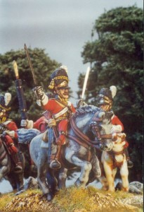 28mm Napoleonic British - Scots Grey (BNC30 + Hv4B) /  painted by Kevin Dalimore