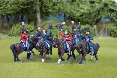 28mm Napoleonic British generals group /  painted by Ian Stables