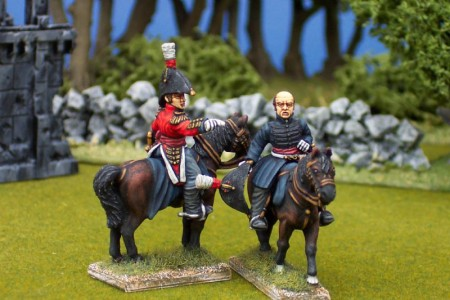 28mm Napoleonic British - Lowery Cole (BNP8) + William Beresford (BNP7) / painted by Ian Stables