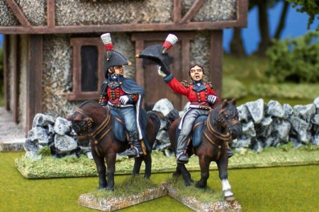 28mm Napoleonic British - Rowland Hill (BNP6) + Robert Crauford (BNP2) / painted by Ian Stables