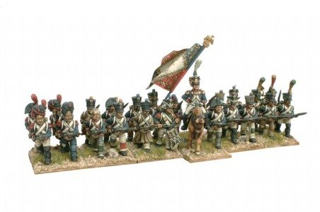 28mm Napoleonic French Line Infantry painted by Kevin Dallimore