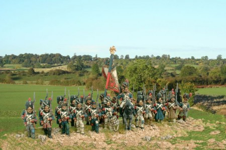 28mm Napoleonic French Old Guard Grenadiers / painted by Kevin Dallimore