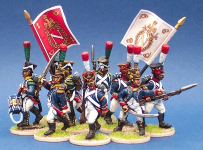 28mm Napoleonic French Young Guard Fanions by GMB designs