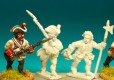 Musketeer, advancing German Infantry & Command 18th Century Front Rank Figurines