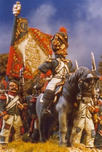 28mm Napoleonic French Old Guard Colonel (FN131) painted by Kevin Dallimore
