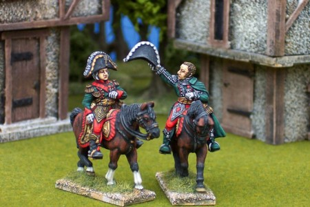28mm Napoleonic French - Bessieres (FNP6) + Grouchy (FNP8) / painted by Ian Stables