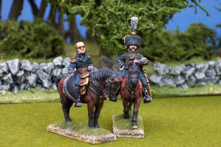 28mm Napoleonic French - Davout (FNP7) + ADC (FNP20) / painted by Ian Stables