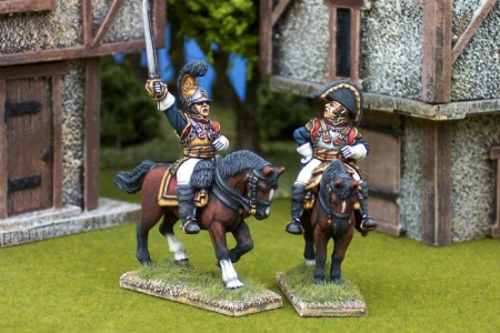 28mm Napoleonic French - Chouard (FNP9) + Cuirassier General (FNP15) / painted by Ian Stables