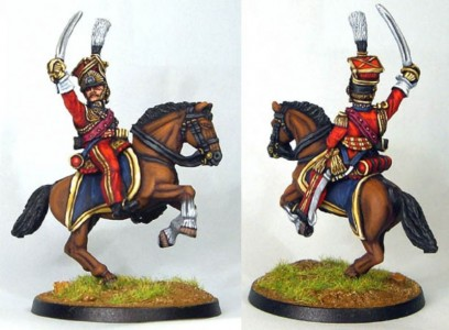 28mm Napoleonic French Guard Lancer Officer painted as Colbert (FNC97) / painted by Bob Cater