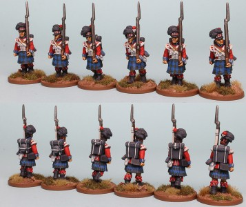 28mm Highland Reinforcement pack BNRPK26 (front and rear view) Painted by Richard Abbott