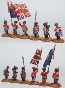 28mm Highland Reinforcement Pack BNRPK28 (front and rear view) Painted by Richard Abbott