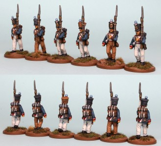 28mm French Reinforcement pack FNRPK22 (front & rear view) / painted by Richard Abbott